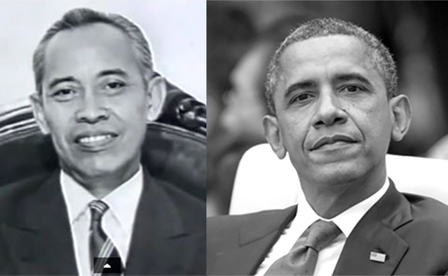 STÂNGA: liderul sectei indoneziene Subud, Muhammad Subuh Sumohadiwidjojo. DREAPTA: Barack Hussein Obama, a cărui mamă a fost adepta sectei