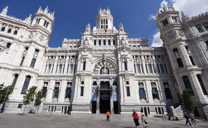 Primăria oraşului Madrid, Spania.