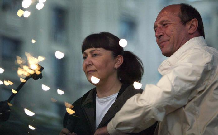 Preşedintele Traian Băsescu şi fostul ministru al Justiţiei Monica Macovei