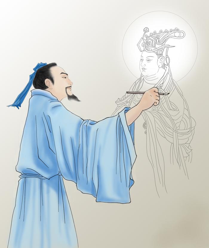 Wu Daozi, Maestrul în Pictură a Chinei