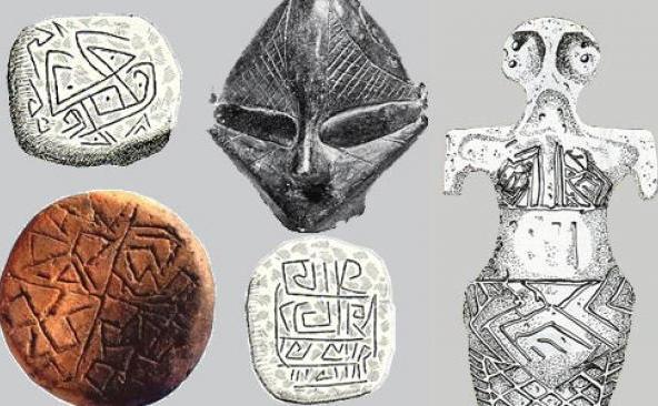 Artefacte aparţinând civilizaţiei de pe valea Dunării.