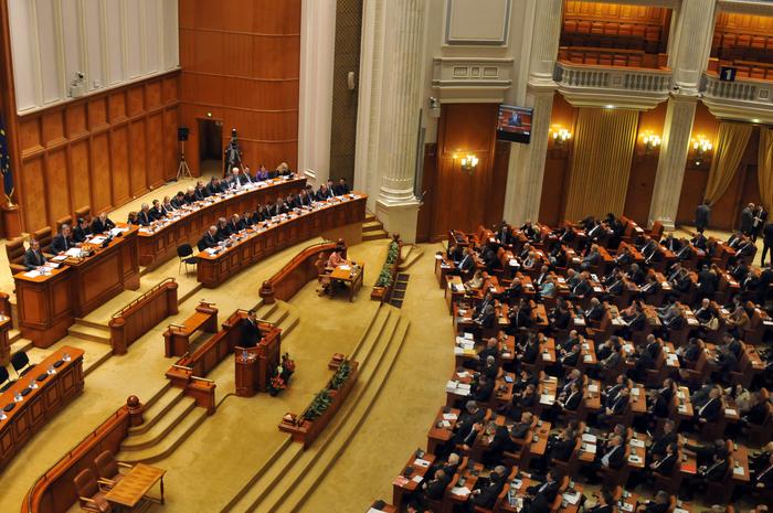 Parlamentul României, şedinţă comună în plen a Senatului şi Camerei Deputaţilor