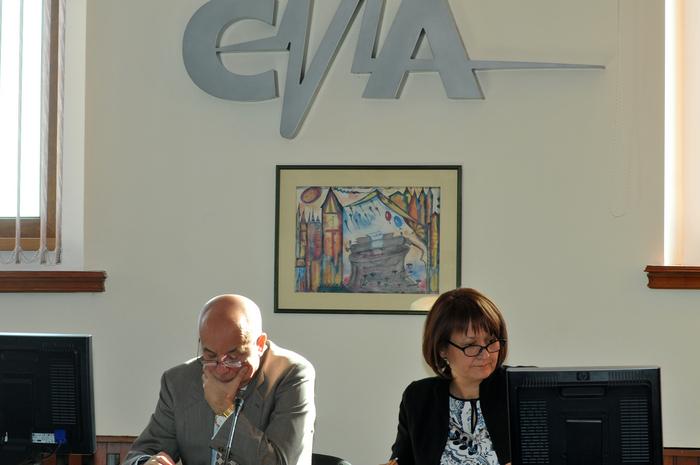 Audieri la Consiliul Naţional al Audiovizualului (CNA), în cazulul Andrei Pleşu şi Sorina Matei (B1Tv). În imagine, Viorel Vasile Buda şi Laura Georgescu