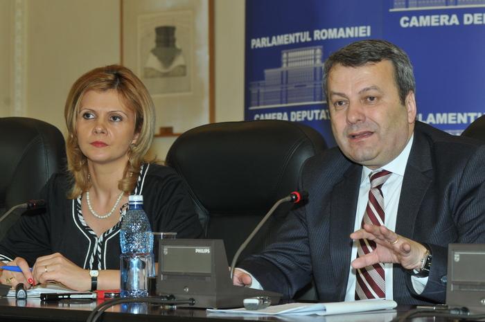 Conferinţă de presă susţinută de Claudia Boghicevici şi Gheorghe Ialomiţeanu (PDL) cu tema: Măsuri fiscale pentru sprijinirea mediului de afaceri.