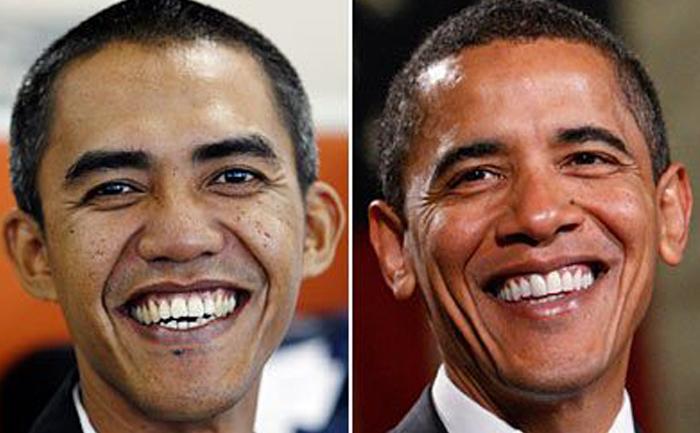 Fotograful indonezian Ilhan Anas şi preşedintele american Barack Obama.