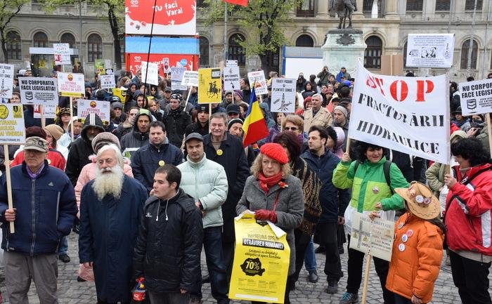 Miting anti fracking în Bucureşti, 6 aprilie 2014