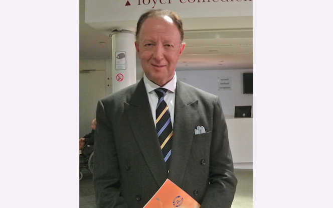 Diplomat belgian Frank Van de Craen participă la Shen Yun Performing Arts la Teatrul Naţional din Bruxelles, în 03.04.2014.