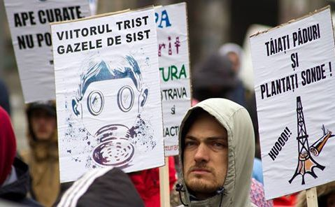 Protest anti-fracturare, Ziua Naţională de Protest Impotriva Fracturarii Hidraulice, Bucureşti, 6 aprilie 2014.