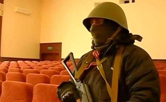 Miliţiile pro-Rusia din Lugansk.