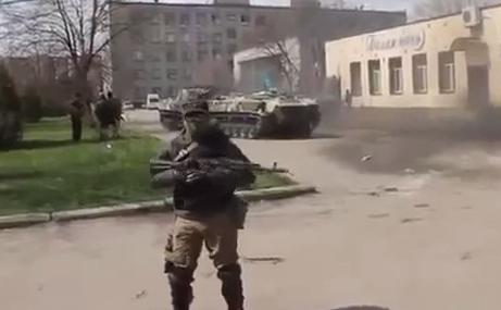 Forţele speciale ruse din Sloviansk. Ucraina.