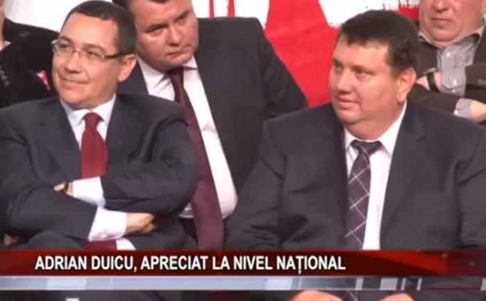 Adrian Duicu, alături de Victor Ponta, felicitat că a readus culoarea roşie pe harta judeţului Mehedinţi.