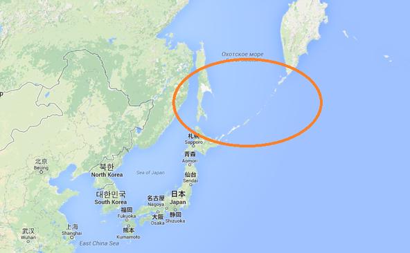Insulele Kurile şi Sahalin. Japonia.