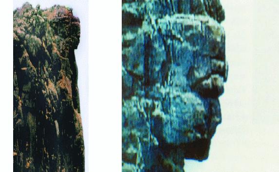 Un monument sculptat într-un munte din granit descoperit în Guinea.