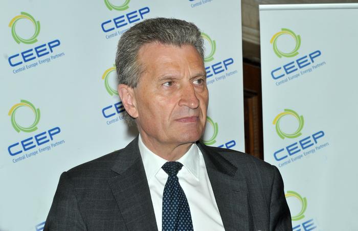 3-rd Energy Summit'29+1, Palatul Parlamentului, 24-25 Aprilie 2014. În imagine,Guunther H. Oettinger, Comisar European pentru Energie