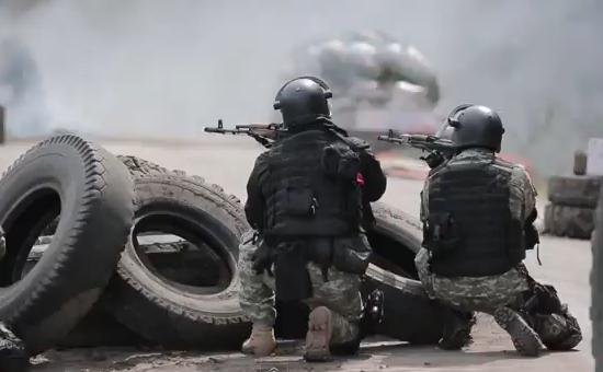 Forţele speciale ucrainene în Sloviansk, Ucraina.