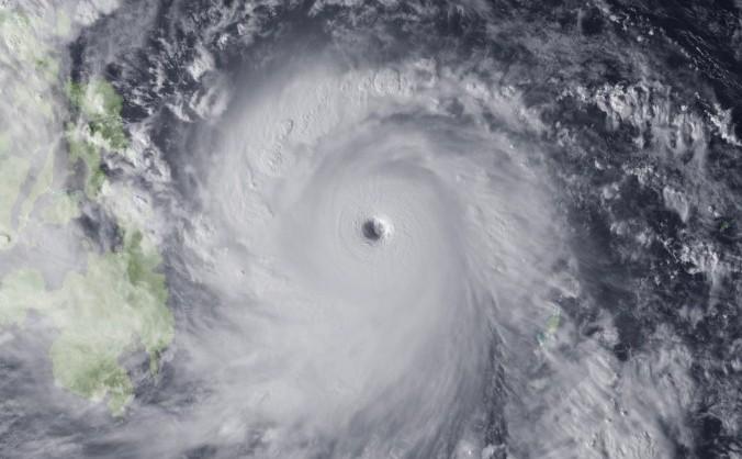 Super Taifunul Haiyan care a lovit zona dinspre Filipine în 2013.
