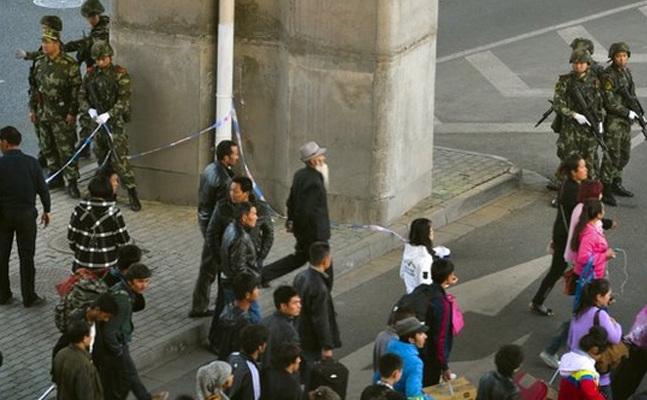 """Gara de Sud din Urumqi după """"atentat"""""""