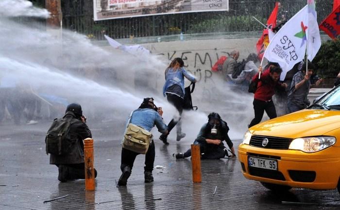 Demonstraţii în Istambul 17 mai 2014