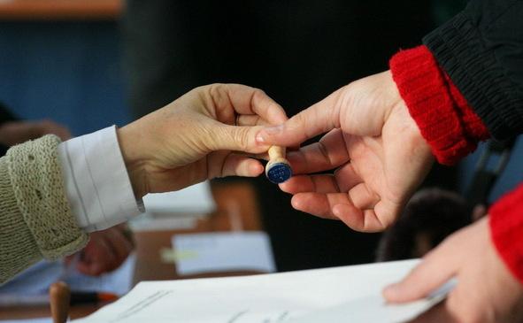 Stampila de vot pentru alegeri