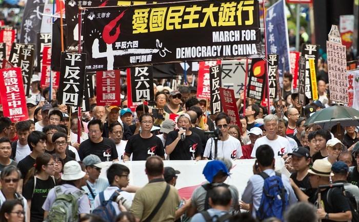 Demonstraţii în Hong Kong, împotriva masacrului de pe 4 iunie 1989