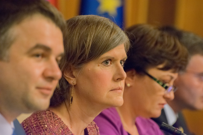 Dr. Sandra Steingrabber (C), Palatul Parlamentului, 10 iunie 2014