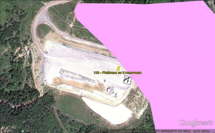 Platformă de foraj afectată de alunecările de teren din Colorado.