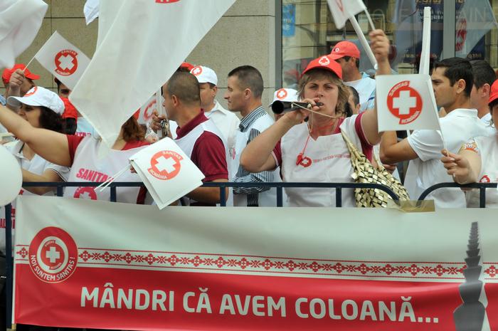 Pichetare , protest la Ministerul Sănătăţii organizat de Federaţia SANITAS