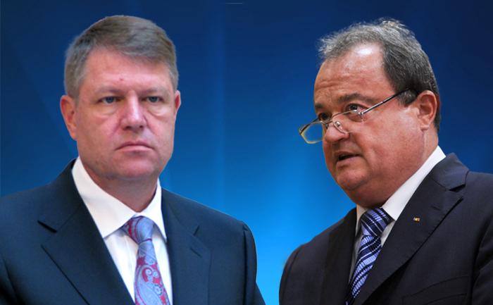 Klaus Iohannis si Vasile Blaga.