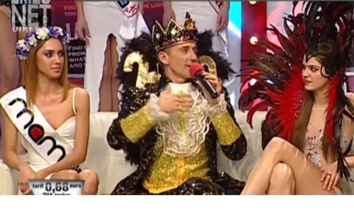 Radu Mazăre, costumat în rege, la o emsiune TV. Arhivă