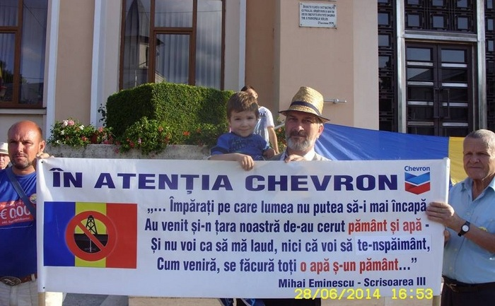 Proteste împotriva fracturării hidraulice, Bârlad.