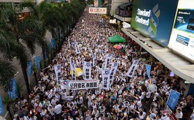 Hong Kong: Poteste de masă împotriva autorităţii comuniste de la Beijing, 1 iulie