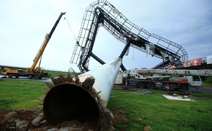 Taifunul Rammasun a lovit China pe 19 iulie, fiind cea mai teribilă furtună care a lovit China în ultimii 40 de ani