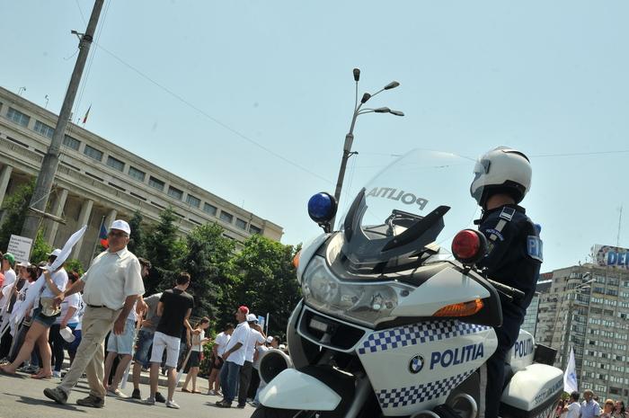 Poliţist pe motocicletă