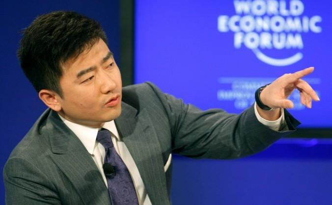 Director al televiziunii centrale de stat - CCTV - şi moderator de televiziune, Rui Chenggang la Davos, 29 ianuarie 2011.