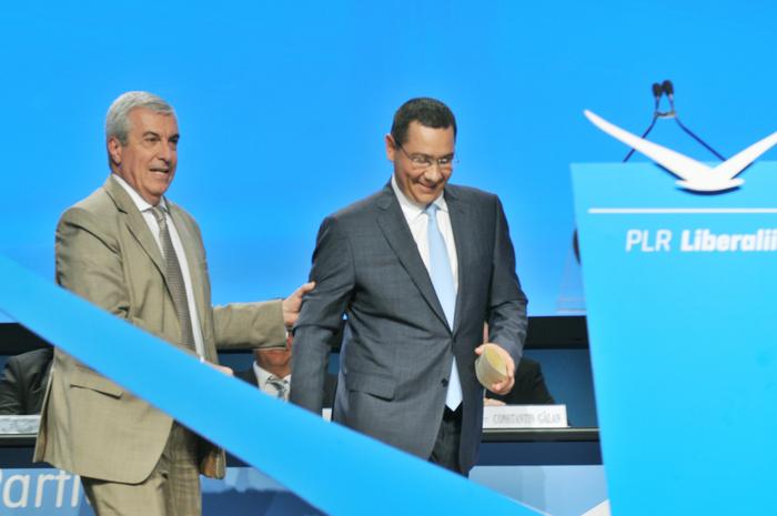 Congresul Ordinar al Partidului Liberal Reformator ( PLR ), 1-2 August 2014. În imagine, Călin Popescu Tăriceanu şi Victor Ponta
