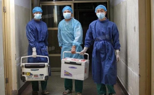 Doctorii cărând organe proaspete pentru transplant într-un spital din provincia Henan, Sohu.