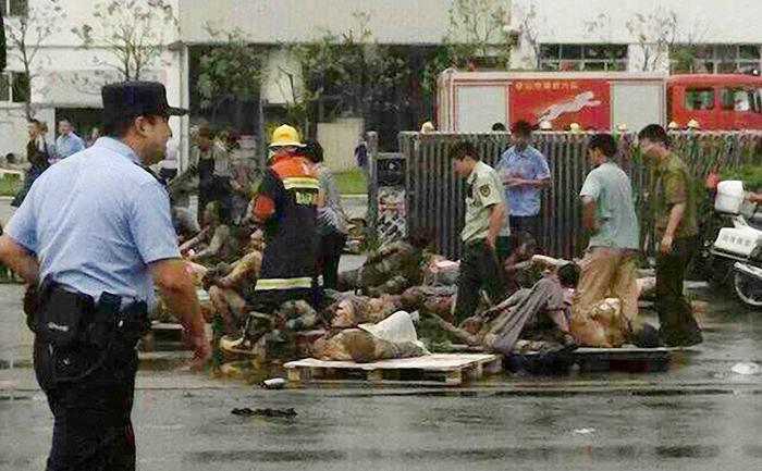 Explozie la o fabrică dinChina - Zhongrong Metal Products Co., Ltd. a explodat pe 2 august 2014 in Kunshan, provincia Jiangsu. 65 de morţi, peste 150 de răniţi