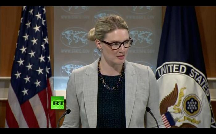 Purtătoarea de cuvânt a Departamentului de Stat american,  Marie Harf.