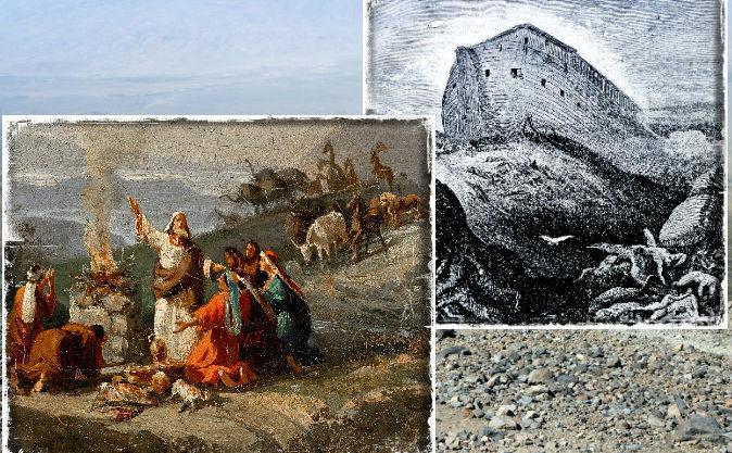 Picturi şi gravuri care-l înfăţişează pe Noe şi arca sa