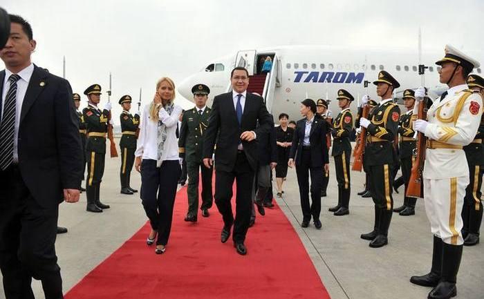 Premierul Ponta primit cu onoruri la Beijing, 31. 08. 2013