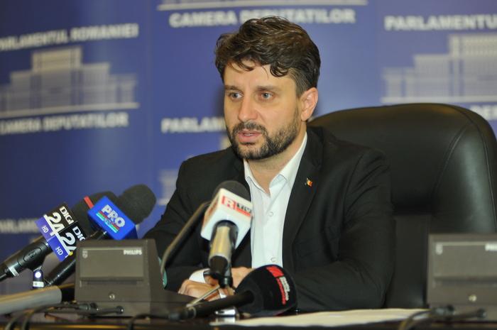 Palatul Parlamentului, conferinţă de presă susţinută de Aurelian Mihai, deputat.