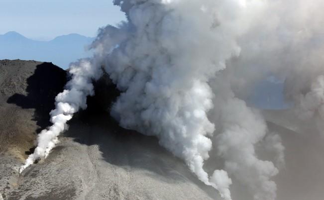 Vulcanul Ontake, prefectura Nagano,, 28 septembrie 2014, la o zi după erupţia din centrul Japoniei
