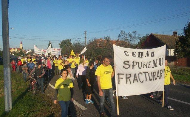 Protest anti fracturare hidraulică, Cenad, 28 septembrie 2014.