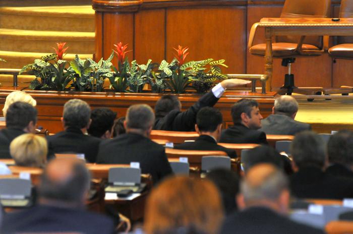 Vot în Camerele reunite ale Parlamentului României.