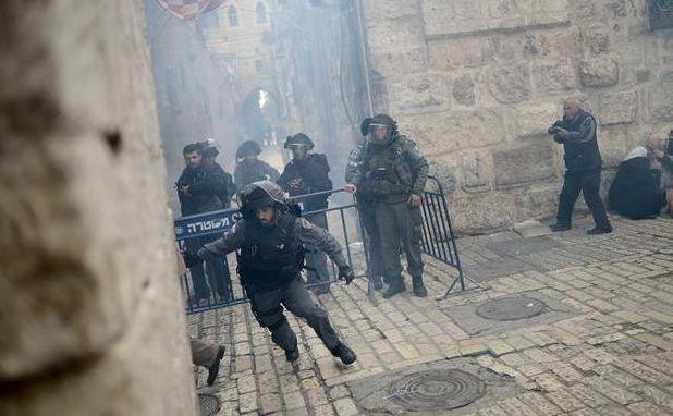 Noi violenţe izbucnite la moscheea Al-Aqsa din Ierusalimul de Est, 5 noiembrie 2014.