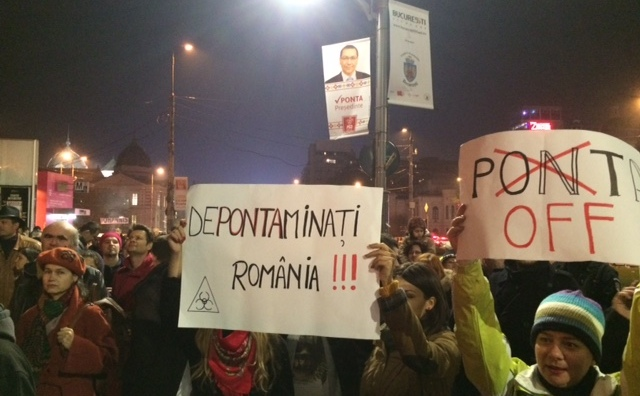 Protest pentru alegeri libere, Piaţa Universităţii, Bucureşti, 8 noiembrie 2014.