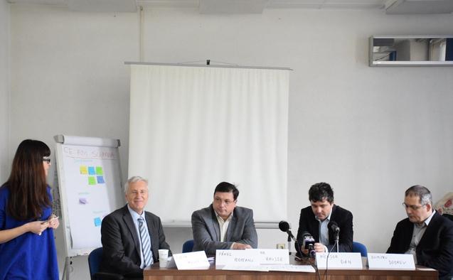 Conferinţă de presă la ActiveWatch despre străpungerea Ciurel, 10 noiembrie 2014