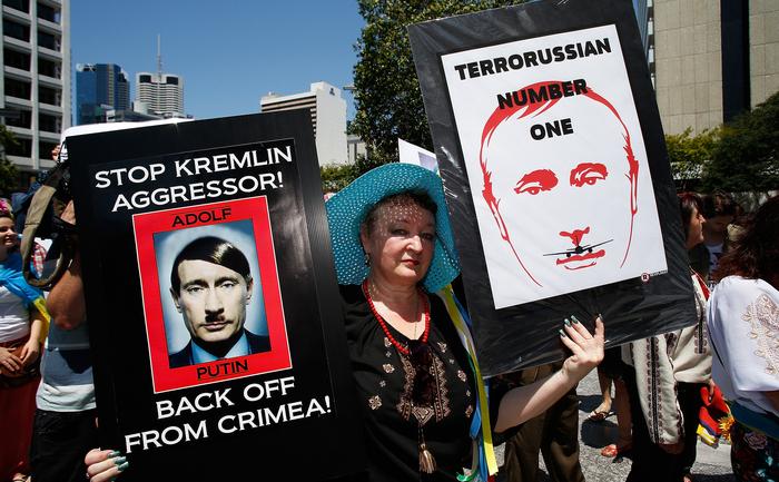 Demonstratii impotriva lui Vladimir Putin, Brisbane, Australia, 15 noiembrie 2014