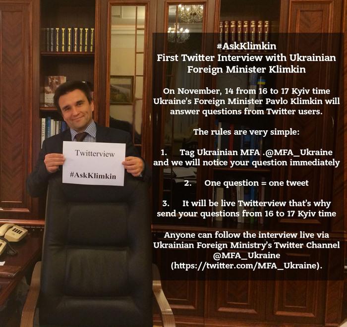 Ministrul ucrainean de externe Pavlo Klimkin