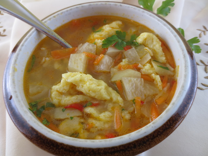 Supă de gulii cu găluşte